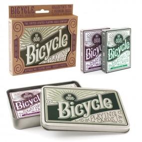 Bicycle Retro Tin Gift Set
